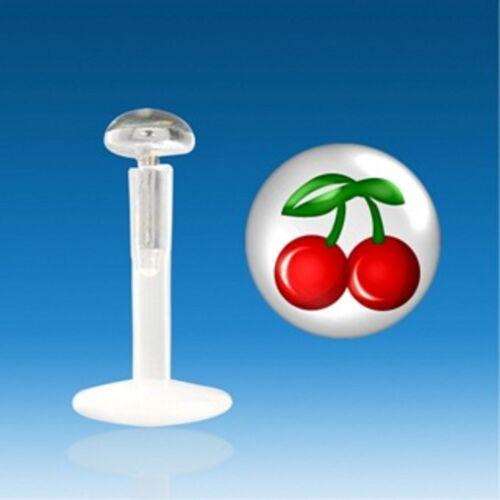 Piercing Lévre Labret Tragus Cartilage Bioflex Logo Cerise