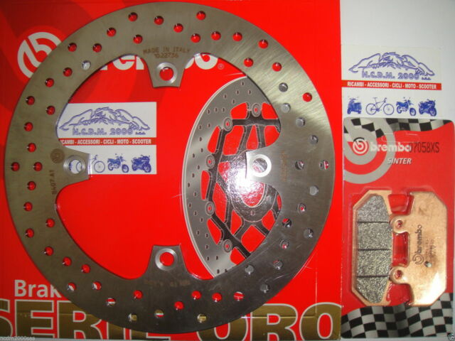BREMBO 68B407A1 DISCO DE FRENO TRASERO + PASTILLAS SUZUKI BURGMAN 650 AÑO 2002
