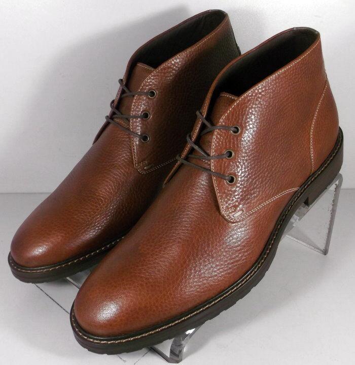 592334 ESBT50 Men's shoes Size 10 M Brown Leather Boots Johnston & Murphy