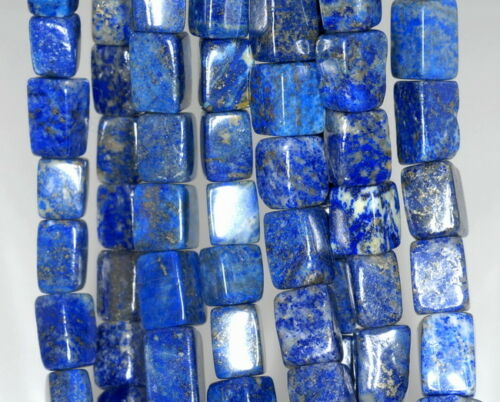 12X9-10X8MM  LAPIS LAZULI  GEMSTONE CUBE LOOSE BEADS 7/""