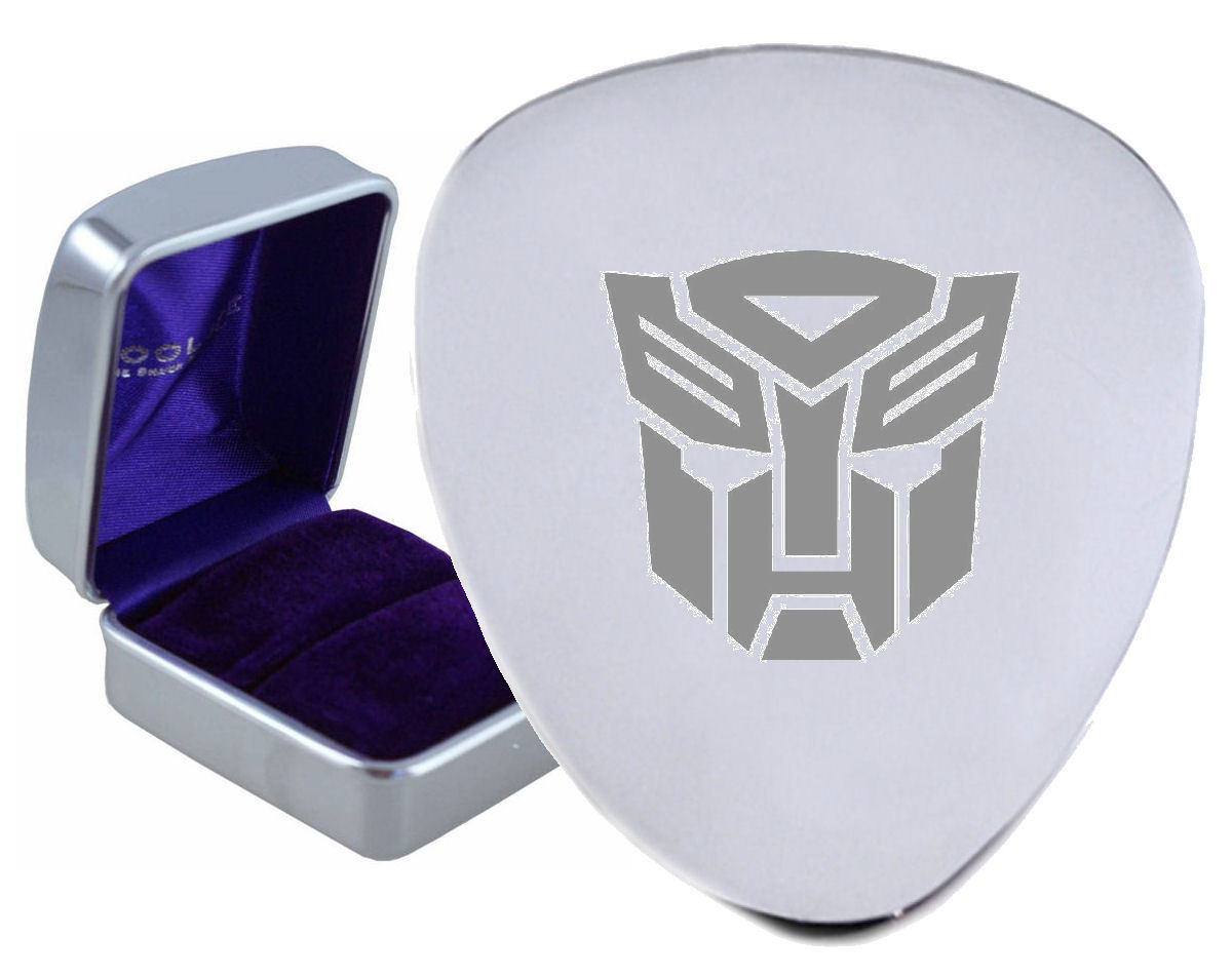Autobot Transformer Stahl Gitarre Plektrum Graviertes - Optional Text auf Box