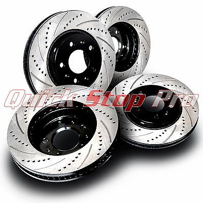 Front Kit Drill Slot Brake Rotors /& Ceramic Brake Pads For BMW X5 4.8is 4.6is