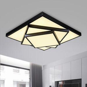 led deckenlampe deckenleuchte dimmbar wandleuchte b ro k chenlampe fernbedienung ebay. Black Bedroom Furniture Sets. Home Design Ideas