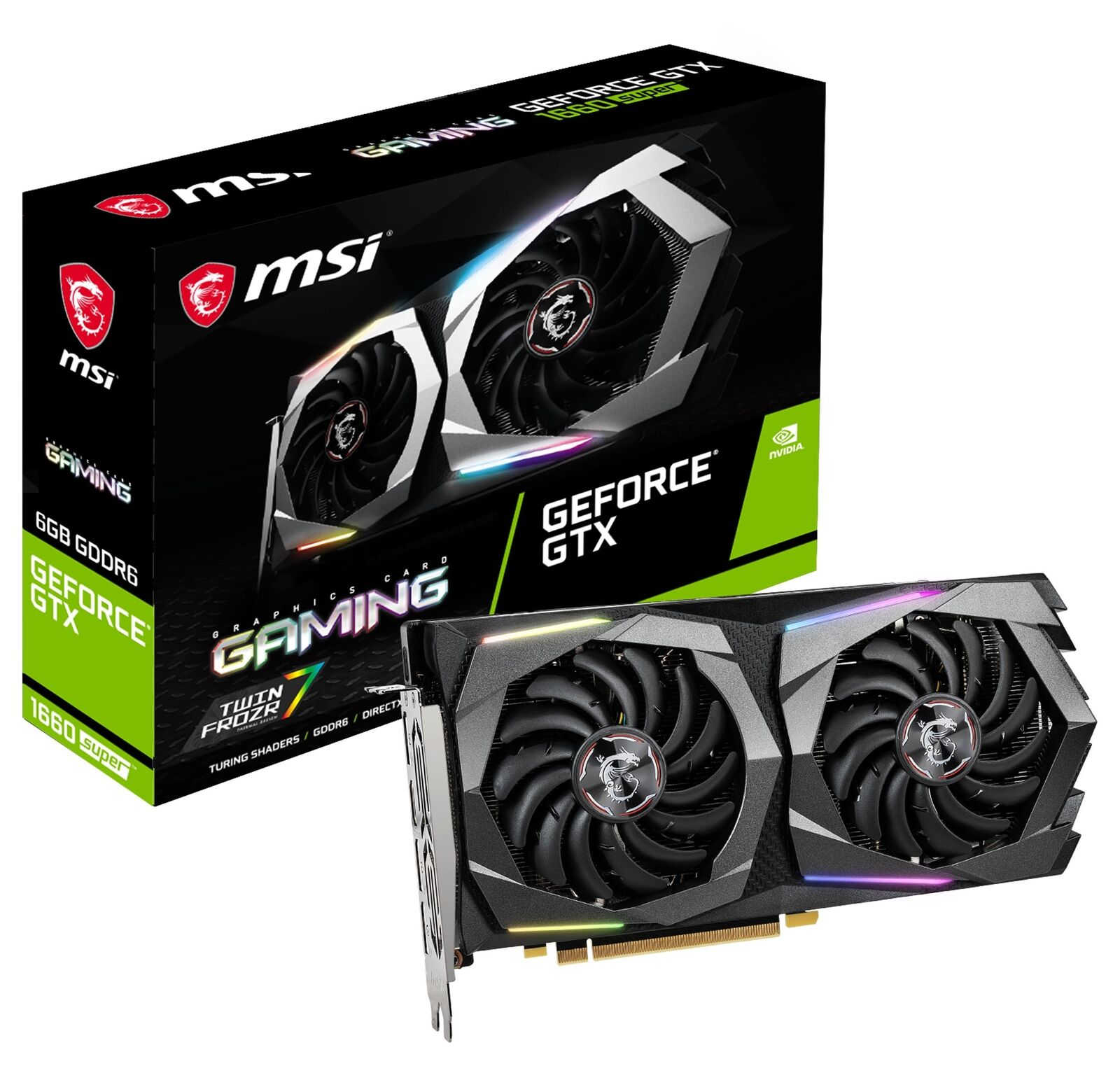 MSI GeForce GTX 1660 SUPER GAMING Graphics Card, PCI-E x16, No NVLink, VR Ready 2
