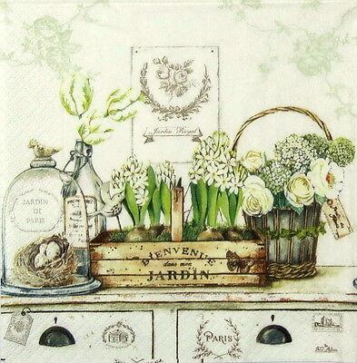4x Paper Napkins -Vintage Jardin Royal - for Party, Decoupage