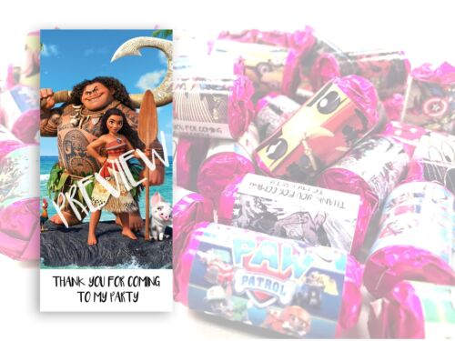 Moana Mini Love Hearts Sweets Party Bag Fillers Kids Childrens Thank you #7