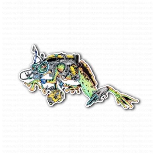 Frog Diver Scuba Diving Sticker