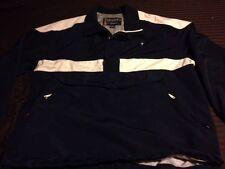 VTG Guess 1/2 Zip Men XL Pullover Windbreaker Jacket 90s Navy White