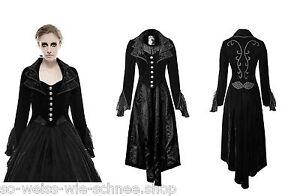Punk-Rave-Mantel-Gehrock-Gothic-Steampunk-Coat-Victorian-Spitze-Velvet-Lace-Y658