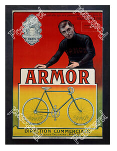 Historic-Armor-Bicycle-with-cyclist-Eugene-Christophe-Advertising-Postcard