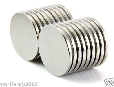 20PC Super Strong Disc Cylinder Round Magnets 25 X 3 mm Rare Earth Neodymium N35