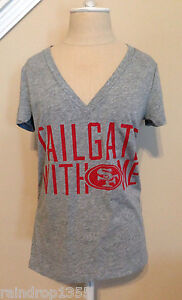 Victorias-Secret-PINK-Niners-SF-San-Francisco-49ers-T-shirt-Tailgate-with-Me-M