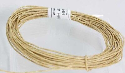 Waxed Hemp cord 100% with Organic Bees wax  Hemp Twine -   - Holds Flame- Wick
