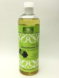 Beauty Aura 100% Grapeseed Oil Healthy Hair & Skin 16 oz ...