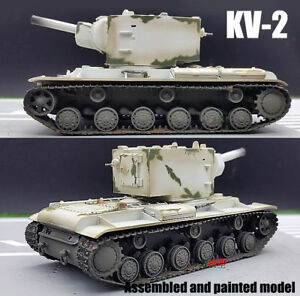 Easy-Model-KV-2-Russian-USSR-army-soviet-winter-camouflage-1-72-finished-tank