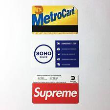 SUPREME METRO CARD MTA SS17 - BRAND NEW - david bowie