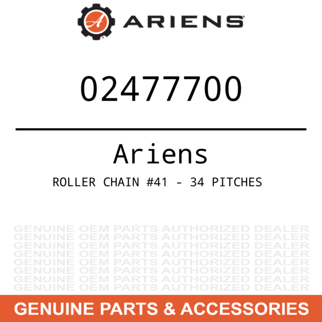 Genuine OEM Ariens Sno-Thro and Lawn Mower Roller Chain 02477700
