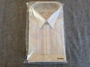 Arrow-Bradstreet-Mens-17-1-2-Short-Sleeve-Dress-Shirt-New-in-the-Package