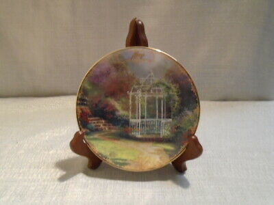 LILAC GAZEBO Plate  #6 Bradford Exchange Thomas Kinkade/'s Simpler Times MAY