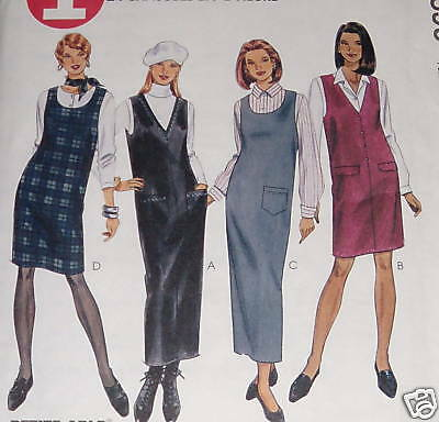 OOP McCALLS 2633 Apron Dress or Jumper n 2 lengths PATTERN 4-6-8-10-12-14-16 UC