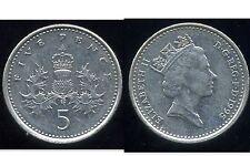 ROYAUME UNI   five   5  pence 1995