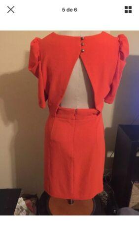 asos dress 8 Open Back Orange,open Back