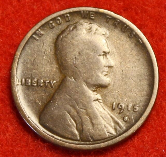 1915 S Lincoln Wheat Cent 1c Very Good