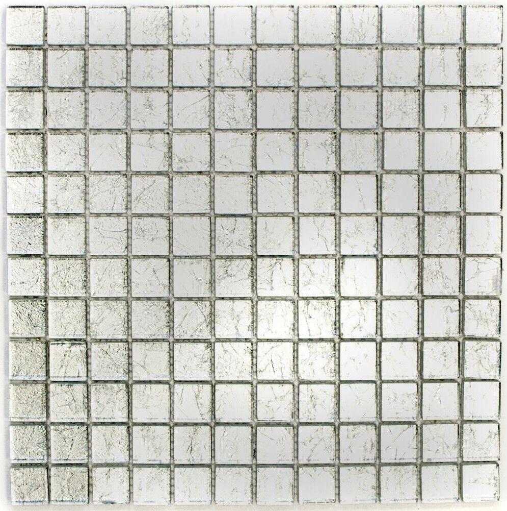 Mosaïque translucide crystal structure Silber cuisine 123-8SB16_f   10 plaques