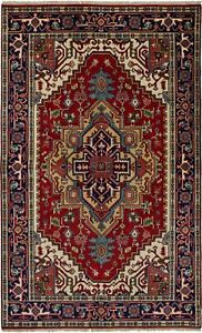 Hand-Knotted-Carpet-5-039-0-034-x-8-039-2-034-Traditional-Oriental-Wool-Area-Rug