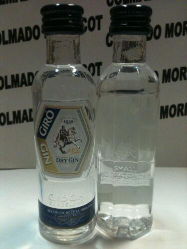 DRY GIN GIRO 5cl 37,5/% BARCELONA PLASTIC miniatura mignonette mini bottle
