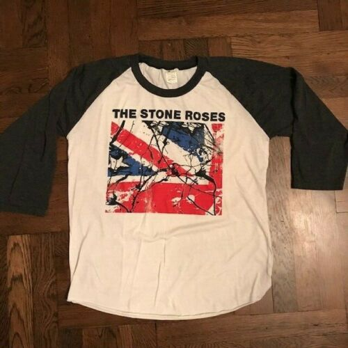 Vintage 1990s The Stone Roses T-Shirt Baseball Wat