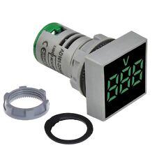 Panel Mount Square Display Digital Voltmeter Ac 20 500v Led Display Grren