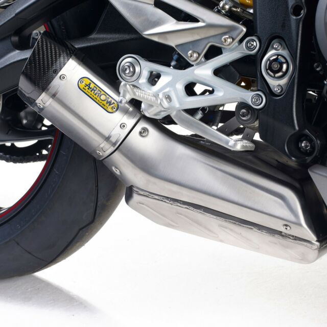 Triumph A9600563 Street Triple 765 Arrow Slip On Exhaust Kit Ebay