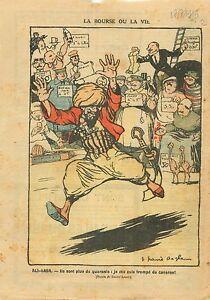 Caricature-Politique-Ali-Baba-amp-les-Quarante-Voleurs-FM-France-1919-ILLUSTRATION