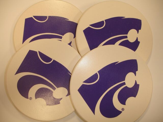 One Size Sandstone NCAA Legacy Kansas State Wildcats Thirsty Coaster 4-Pack
