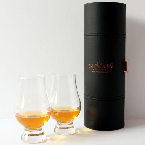 Set of 2 The Glencairn Official Whisky Glass Travel Case