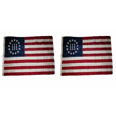 Betsy Ross Flag 3x5 Polyester USA American 13 Star Indoor Outdoor Flag III
