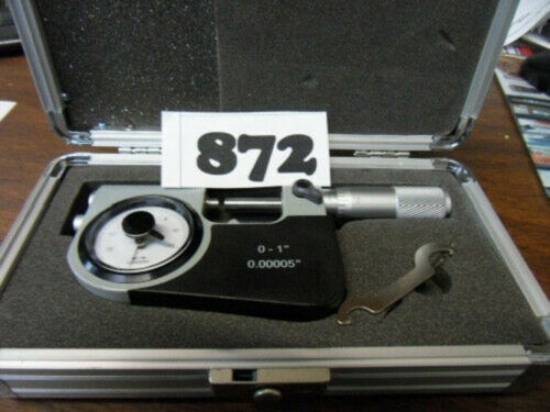 """0 TO 1/"""" INDICATING MICROMETER NEW GRADUATION 0.00005/""""//0.001MM ***NEW*** PIC#872"""