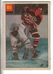 1954-55-Parkhurst-Hockey-Premium-Card-85-Larry-Wilson-Chicago-Black-Hawks-EX