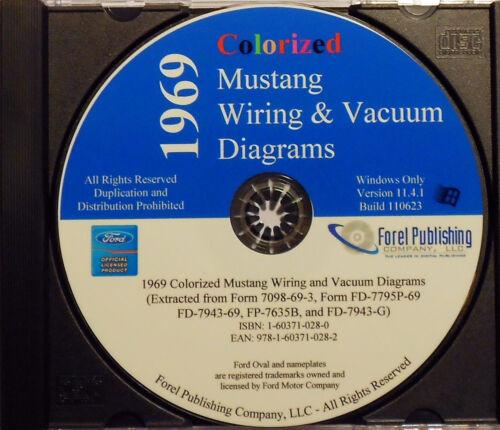 1969 FORD MUSTANG GT MACH 1 BOSS 302 429 WIRING VACUUM DIAGRAMS SCHEMATICS CD