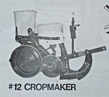 Cole Corn Pea Pumpkin Planter Fertilizer No 11 12 Owners Manual Amp Parts List