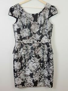 REVIEW-Womens-Floral-Peplum-Dress-Size-AU-14-or-US-10