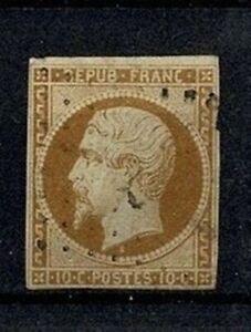 FRANCE-STAMP-TIMBRE-YVERT-N-9-034-LOUIS-NAPOLEON-10c-BISTRE-034-OBLITERE-A-VOIR-V584