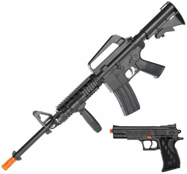 Colt M4 and 1911 Pistol Airsoft Combo Ops Kit Spring Power With 500 Bb's  (tan) for sale online | eBay