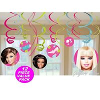 Barbie 12 Swirls Birthday Decorations Party Supplies Favors