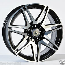"GENUINE MERCEDES-BENZ C CLASS W204 AMG 18""INCH BLACK/DIAMOND CUT ALLOY WHEELS X4"