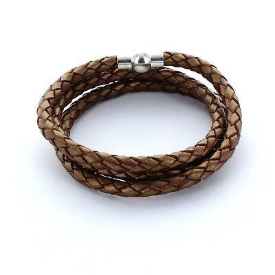 Blau Lieblingsmensch® Armband Lederarmband 0,5cm 3x gewickelt Farbe
