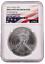 2013 1oz Silver American Eagle NGC Brilliant Uncirculated Flag Label