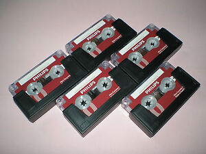 5x-Philips-Original-Mini-cassette-LFH0005-2x15-30-Minutes-Dictation-NEW