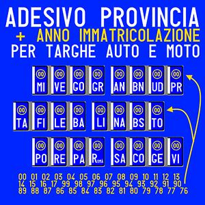 ADESIVI-2ANT-2POST-TARGA-PROVINCIA-ANNO-X-RIPRISTINO-TARGHE-AUTO-E-MO